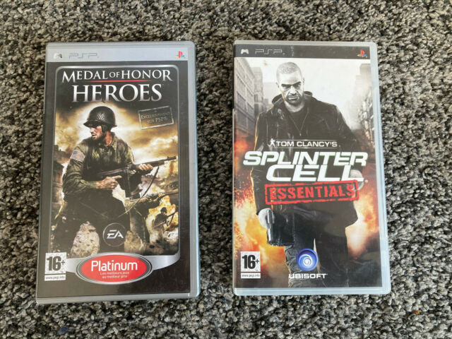 Deux jeux PSP -  Medal Of Honor Heroes / Tom Clancy's : Splinter Cell Essentials