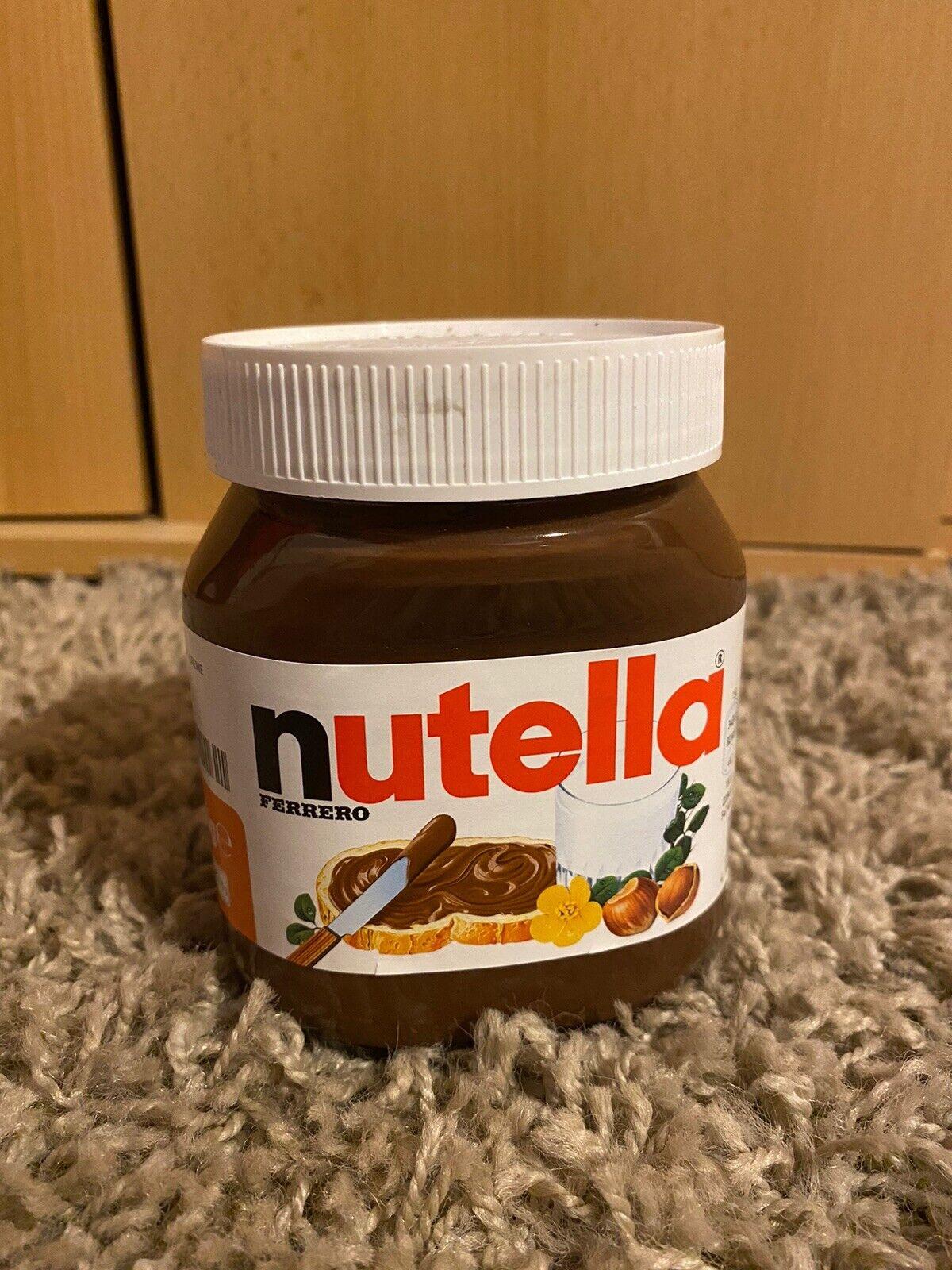 L   ♥ 450 g Glas  ♛ Namen A ♛ nutella Aufkleber versch