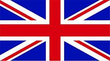 "#1056 (1) 3"" GB Great Britain Flag Decal Pannier SIde Case Sticker Laminated ADV"