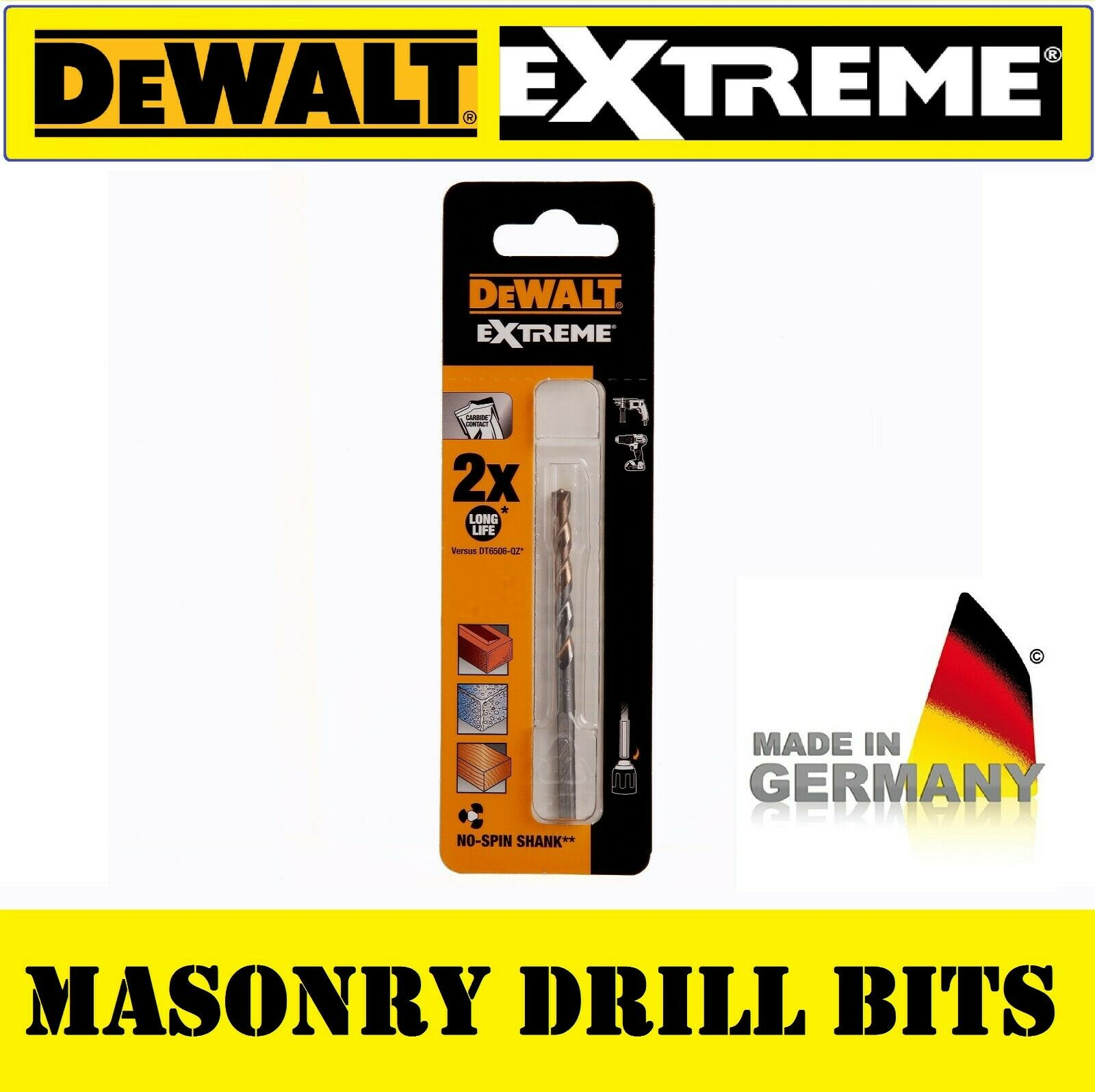 Dewalt Extreme Glass Slate Granite Diamond Tile Drill bits 10 12 15 20 25mm