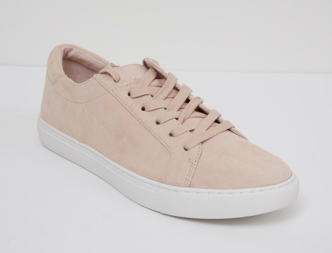 KENNETH COLE Womens KAM pink Pink bluesh Suede Sneaker Trainer 8 10 NEW+BOX
