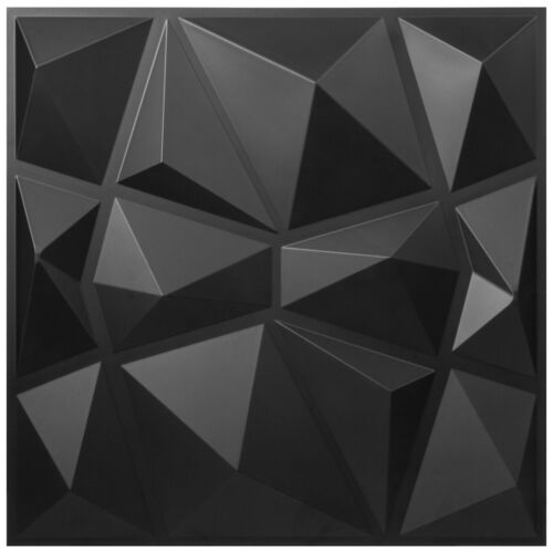 3D Wall Panel Diamond PVC Brick Plant Fiber Decorative Pack of 13 Tiles 35sqft