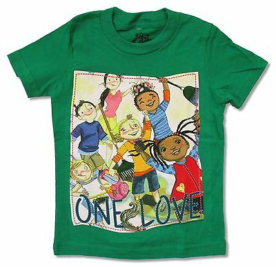 One Love Kids Image Green Child Youth Toddler T Shirt New Official Bob Marley