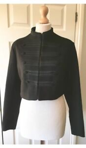 Bnwt Size Short Toggles 14 Black L Style Uk Zara With Jacket Military Wool AUxWRqT