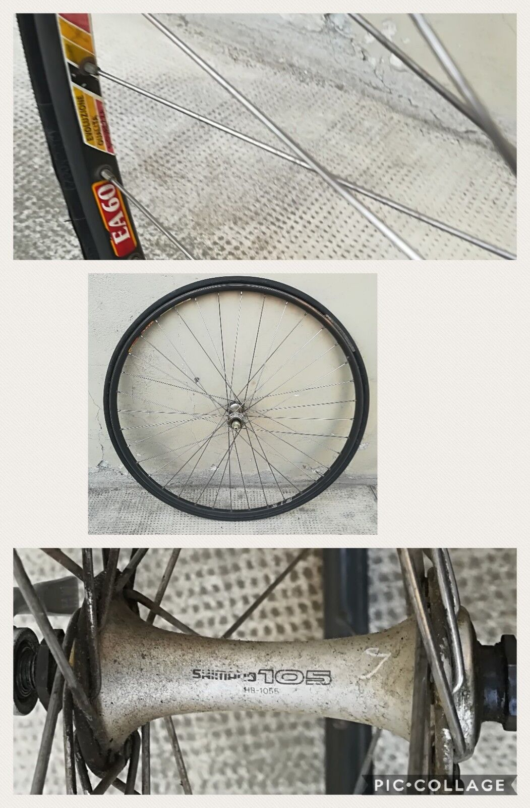 Front wheel race road vintage Heroic front wheel Shimano 28  fir