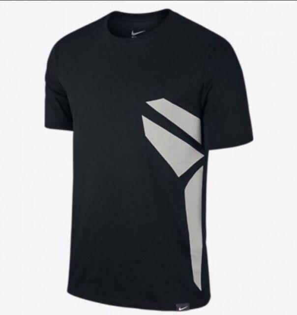 4e57853af Nike Kobe Bryant Art Dri-FIT Shirt Sz Small Black Mamba Logo Decal Silver  Grey