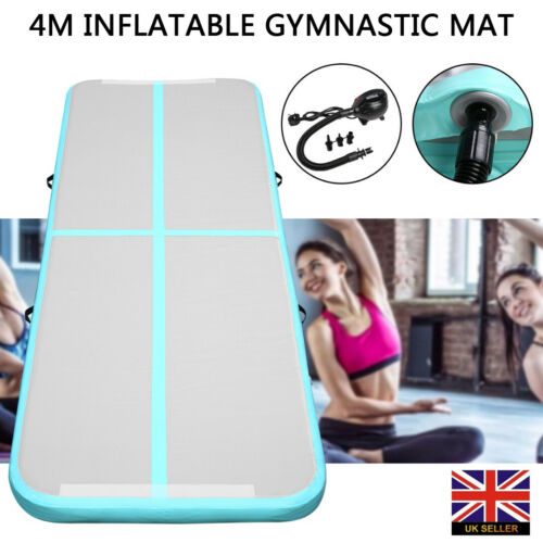 4M Yoga Inflatable Air Track Tumbling Floor Training Gym Gymnastic Mat With Pump