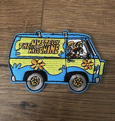 """4/"""" cartoon scooby-doo in the Mystery Machine Embroidered Iron On Patch USA"""