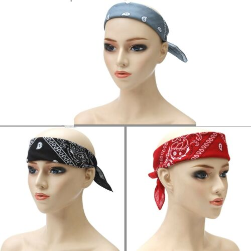 10 x Dessin Cachemire Bandana Tête foulard Vendeur Britannique
