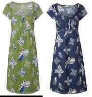 White Stuff  'Happy Times' NEW cotton print dress blue or green 8 10 12 14 16 18