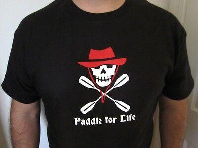 Men/'s Kayak Skull Paddle For Life T Shirt