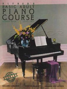 Alfred's Basic Adult Piano Course Leçon Niveau 2 Musique Livre Apprendre à Jouer-afficher Le Titre D'origine GuéRir La Toux Et Faciliter L'Expectoration Et Soulager L'Enrouement