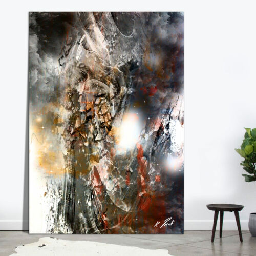 Schwarz Weiß Textur Bild Leinwand Abstrakte Bilder Wandbilder Neu XXL D2190