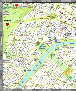 map of paris france by red maps street