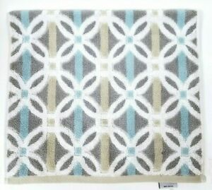 BEAU-MONDE-BEIGE-WHITE-GRAY-BLUE-COTTON-GEOMETRIC-BATH-HAND-TOWEL-2-FINGERTIP