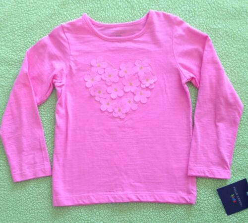 NWT Falls Creek Pink HEART// FLOWER Long Sleeve Shirt 3T Baby Girl Clothes