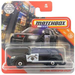 2016 Ford Interceptor Utility 2020 Matchbox Mbx City Mb1179 48 Short Card Ebay