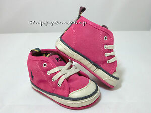 Ralph-Lauren-Baby-Shoes-Carlisle-II-Mid-Suede-Sneaker-US2-3-6MOS-11cm-Pink