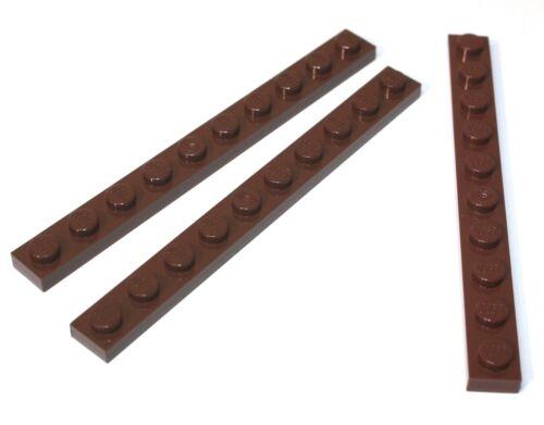 3x LEGO®  Platte 1x10 4477 NEU Braun alt brown