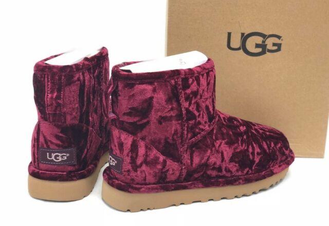 80289d43457 UGG Australia Crushed Velvet Classic Mini Boot Fig 1090871 Women's Sheepskin