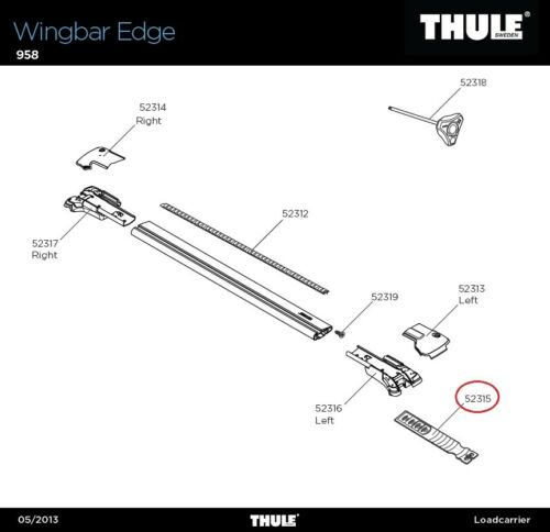 Mantén Band Strap Edge lprr para wingbar Edge 958