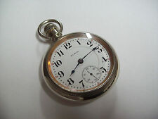 "18s Elgin Father Time  "" Grade 252  "" 21 Jewel Railroad Pocket Watch"
