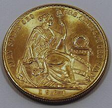 1964 Peru 100 Soles Fineness 0.900 AGW 1.3544 Troy Oz Gold Coin