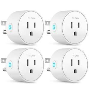 Details about Smart Plug Mini Outlet Compatible with Amazon Alexa and  Google Assistant, TECKIN