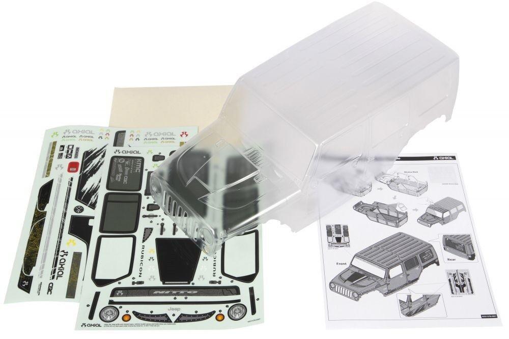 Axial 2017 JeepWranglerRubiconHardtop Clear Body - AXI31578
