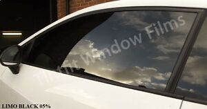 BLACK HIGH PERF LIMO 05 SMOKED CAR /& OFFICE WINDOW TINTING TINT FILM