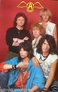 """AEROSMITH """"YOUNG SHOT OF BAND & CLASSIC OLD LOGO"""" POSTER ..."""