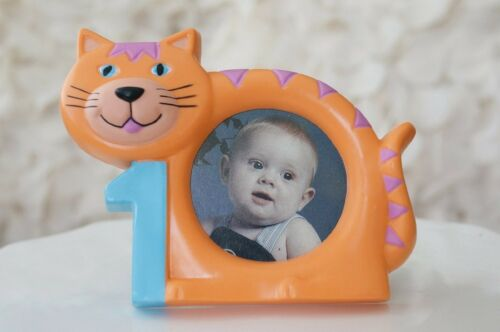 "Mignon Orange Tabby Cat 1st Anniversaire Cadre Photo 3/""x5/"""