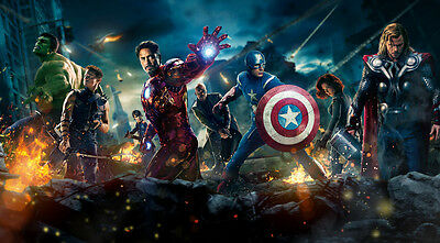 """The Avengers MOVIE Fabric poster 24"""" x 13"""""""