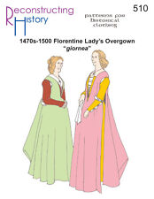 Schnittmuster RH 510: 1470s-1500 Florentine Lady's Overgown Giornea