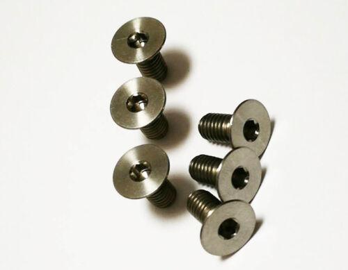 6Pcs Titanium Countersunk M5 x10//12//15//20mm Hexagon Socket Head Bike Screw Bolt