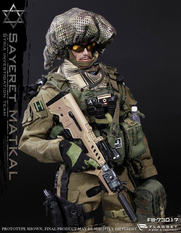 Flagset FS73017 1 6 Israel Sayeret Matkal Siria figura soldado de infiltración