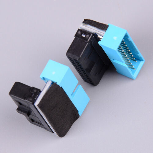 USB3.0 19P 20P male 90 degree motherboard chassis front seat expansion connectTB