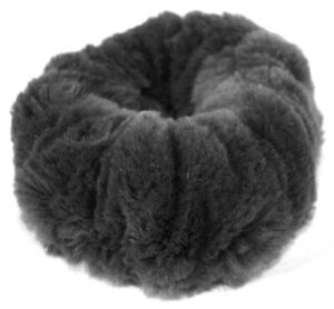 Fur-Hair-Bands-Velvet-Bracelet-Cuff-Hair-Jewelry-Band-Musquash-Mink-Dark-Gray