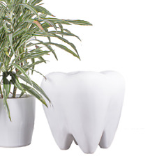 New White Kids Dental Tooth Molar Stool Chair 18 H 16 W Fiberglass 240 Lb Max