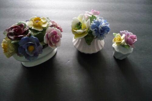 Radnor-Royal Adderley Details about  /Vtg 3 Bone China Flowers in Vase Made in England Aynsley