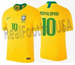 06e6bca6a Image is loading NIKE-RONALDINHO-BRAZIL-VAPOR-MATCH-AUTHENTIC-HOME-JERSEY-