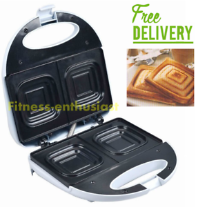Electric-Jaffle-Press-Machine-Sandwich-Maker-Toaster-Twin-Toastie-Non-Stick-NEW