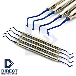 4Pcs-Set-Blue-Titanium-Coated-Dental-Composite-Placement-Contouring-Instruments