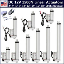 12v Linear Actuator 1500n Lift Electric Motor With Bracket For Medical Auto Car Do