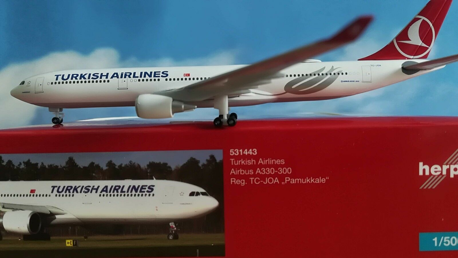 Herpa Wings 1 500 531443  Turkish Airlines Airbus A330-300