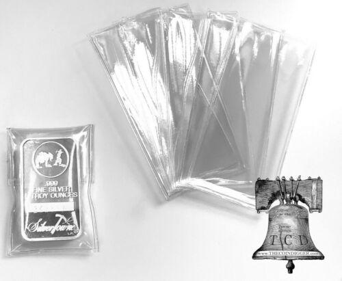 50 Vinyl Flip Sleeve 5oz Silver Copper Bar Ingot Holder Bars Single Pocket Case
