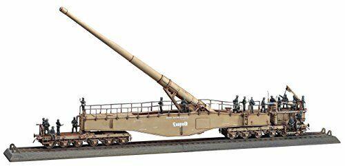 Hasegawa 1 72 German Army German railway gun K5 E Leopold w Plast Figures