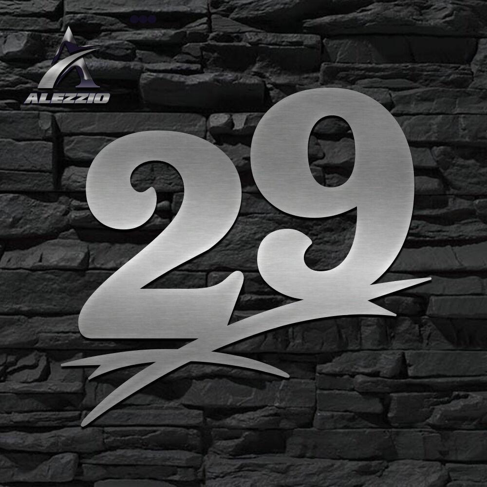 HAUSNUMMER EDELSTAHL 29 in 16cm,20cm,30cm,40cm,50cm,ORIGINAL ALEZZIO DESIGN  NEU | Einzigartig  | Online Shop Europe  | Hochwertig