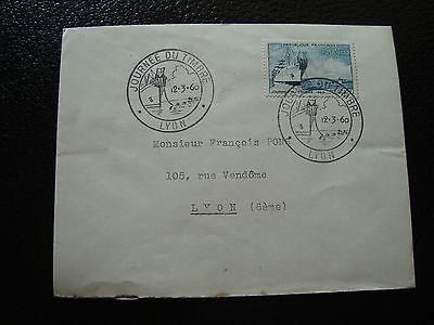 Französisch a cy15 Tag 12/3/1960 Durchsichtig In Sicht Treu Frankreich Umschlag 1