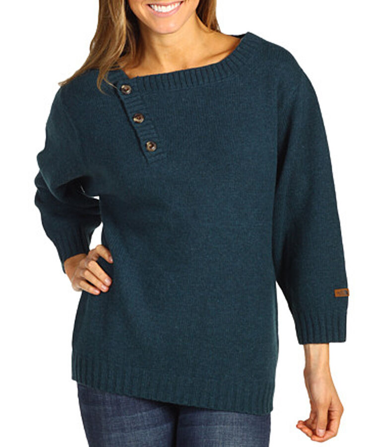 New The North Face Womens Willow Grove Wool Blend bluee Sweater  XS